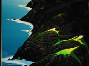 Eyvind Earle以敏銳的色彩觸角,創出屬於自己的獨特畫風,令作品營造出立體生動的視覺效果。至今在世上最暢銷的聖誕卡,依然是屬於他的作品。